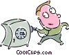 Vector Clipart illustration  of a Vaults and Safes