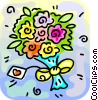 Vector Clipart image  of a Bouquet of flowers