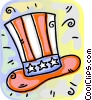 Uncle Sam's hat Vector Clipart image