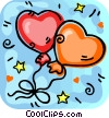 Valentines day balloons Vector Clip Art graphic