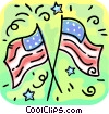 Vector Clipart graphic  of an American flags