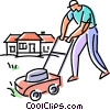 Lawnmowers Vector Clip Art graphic