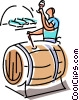 Wine Barrels Vector Clip Art picture