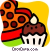 Vector Clip Art graphic  of a Cakes and Pastries