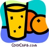 Orange Juice Vector Clipart illustration