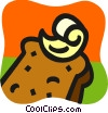 Vector Clipart graphic  of a Bread