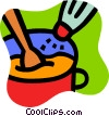 Vector Clipart image  of a Soup