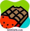 Vector Clip Art graphic  of a Chocolates