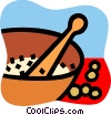 Vector Clip Art image  of a Soup