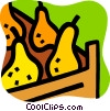 Vector Clipart graphic  of a Pears