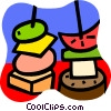 Vector Clip Art graphic  of a Shish kebabs