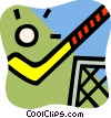 Vector Clip Art image  of a Field Hockey