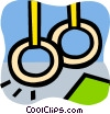 Vector Clip Art image  of a Rings
