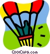 Vector Clip Art picture  of a Hot Air Balloons