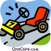 Vector Clipart picture  of a Trucks and cars