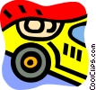 Vector Clipart graphic  of an Auto Racing