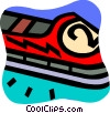 Bobsledding Vector Clip Art graphic
