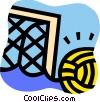 Water Polo Vector Clipart graphic