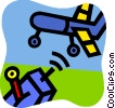 Vector Clipart illustration  of a Toy Airplanes