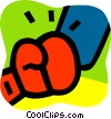 Vector Clip Art picture  of a Boxing Gloves