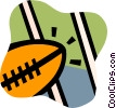 Vector Clipart graphic  of a Footballs