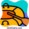 Rubber rafts Vector Clip Art graphic