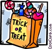 Vector Clipart image  of a bag Halloween candies
