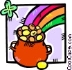 Vector Clip Art graphic  of a pot of gold