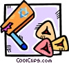 Vector Clip Art graphic  of a party noise makers