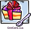 Vector Clipart graphic  of a piece of birthday cake
