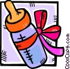 new baby bottle Vector Clipart picture