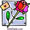 Rose for mom Vector Clipart illustration