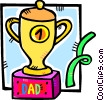 fathers day trophy Vector Clipart graphic