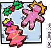 Vector Clipart illustration  of a gingerbread cookies