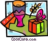 Vector Clipart image  of a birthday gift
