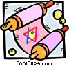 Vector Clipart illustration  of a Scrolls and Parchment