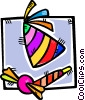 Part hat and noise makers Vector Clipart picture
