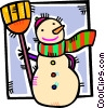 Vector Clipart graphic  of a Snowmen Snowman