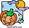 Vector Clipart picture  of a jack o lantern