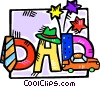 Vector Clipart illustration  of a Father's day motif