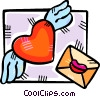 Vector Clipart illustration  of a Valentines day card