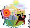 Vector Clip Art graphic  of a Targets and Objectives