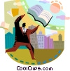 People with Books Vector Clipart image