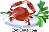 Vector Clip Art graphic  of a Crabs