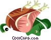 Pork leg Vector Clipart picture