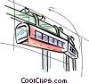 Overhead mono rail Vector Clip Art graphic