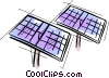 Vector Clip Art graphic  of a solar panels