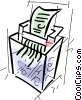 Vector Clip Art graphic  of a paper shredder