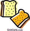 Vector Clip Art image  of a Bread
