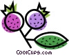 Vector Clipart picture  of a Blueberries